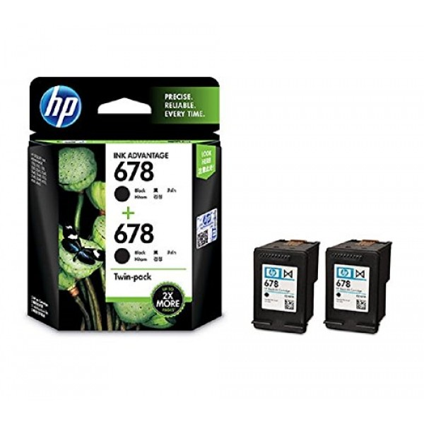 HP 678 Black Original Ink Advantage Cartridges, Pack of 2 HP Ink & toner