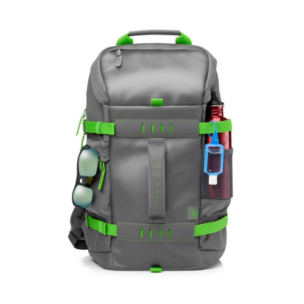 HP Odyssey Backpack for 15.6-inch Laptop (Grey/Green) Laptop Bag/ Sleeve Bag