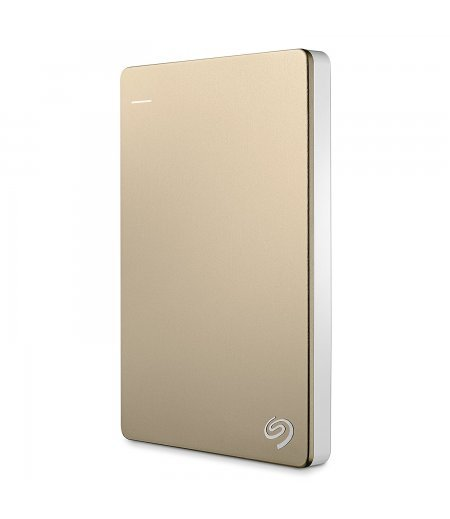 Seagate Backup Plus Slim 1TB USB 3.0 Portable External Hard Drive with Mobile Device Backup (Gold)