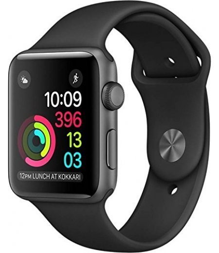 Apple Watch Series 1 42mm Smart Watch (Space Gray Aluminum Case, Black Sport Band)