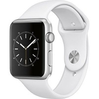Apple Watch Series 1 42mm Smart Watch (Silver Aluminum Case, White Sport Band)