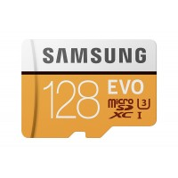 Samsung MB-MP128GA/AM 128 GB MicroSD EVO Memory Card with Adapter