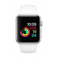 Apple Watch Series 1 38mm Smart Watch (Silver Aluminum Case, White Sport Band)