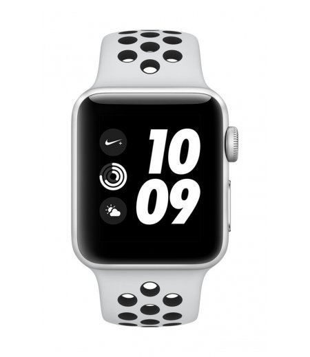 Apple Watch Nike+ GPS 38mm Smart Watch (Silver Aluminum Case, Pure Platinum/Black Nike Sport Band)