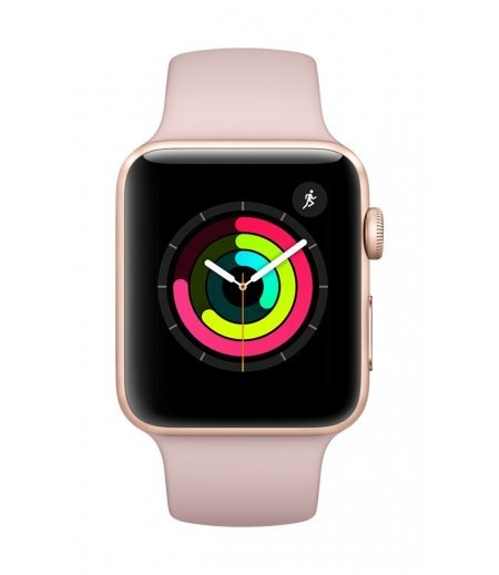 Apple Watch Series 3 GPS 42mm Smart Watch (Gold Aluminum Case, Pink Sand Sport Band)