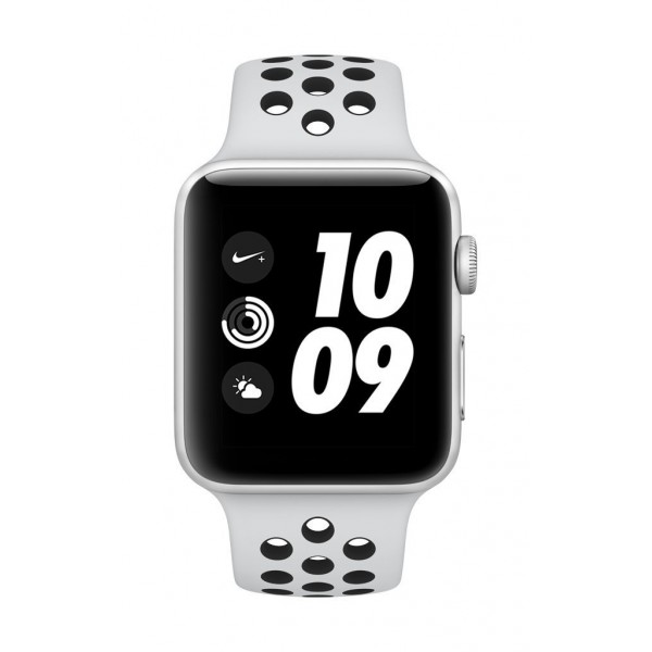 Apple Watch Nike+ GPS 42mm Smart Watch (Silver Aluminum Case, Pure Platinum/Black Nike Sport Band) iWatch