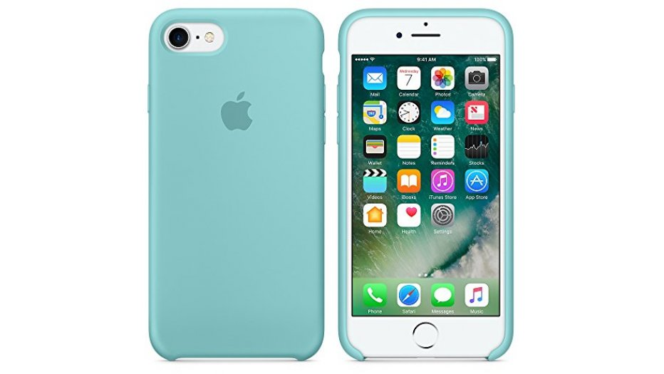 Apple MMX02ZM/A Silicone Phone Case for Apple iPhone 7 (Sea Blue) iAccessories