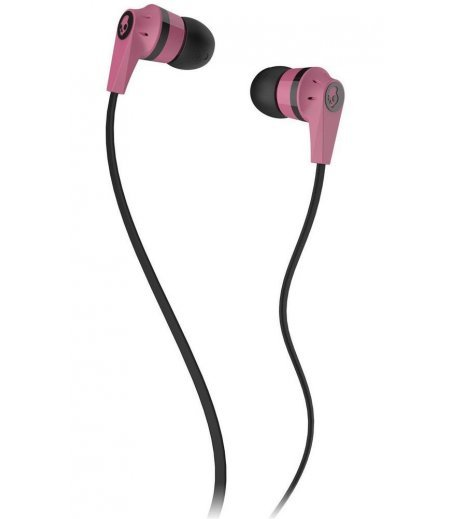 Skullcandy S2IKDY-133 Ink'd 2 In-Ear Headphone with Mic (Pink & Black)