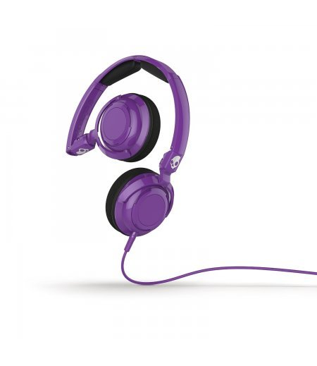 Skullcandy S5LWFY-210 Lowrider On-Ear Headphone with Mic (Athletic Purple)