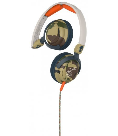 Skullcandy S5LWGY-370 Lowrider On-Ear Headphone with Mic (Camo/Bone/Slate)