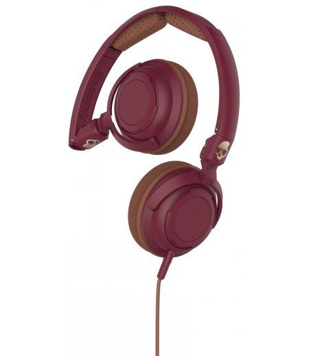 Skullcandy S5LWGY-414 Lowrider On-Ear Headphone with Mic (Maroon/Coper)