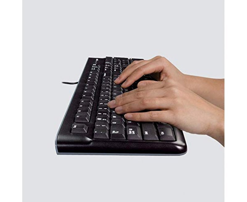 Logitech MK120 Wired Keyboard and Mouse Combo (Black)