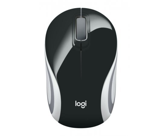 Logitech M187 Ultra Portable Wireless Mouse, 2.4 GHz with USB Receiver, 1000 DPI Optical Tracking, 3-Buttons, PC/Mac/Laptop - Black
