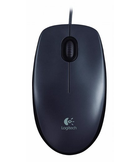 Logitech M90 Wired USB Mouse (Black)