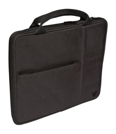 """V7 TD20BLK Carrying Case (Attaché) for 10.1"""" iPad, Tablet PC - Black"""