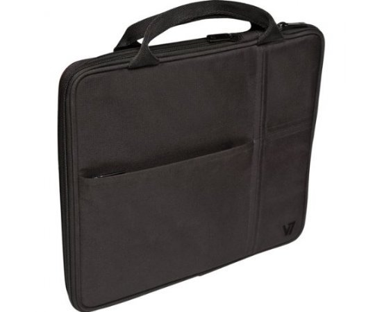 "V7 TD20BLK Carrying Case (Attaché) for 10.1"" iPad, Tablet PC - Black"