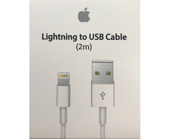 Apple MD819ZM/A Lightning Connector to USB Cable, 2 Meter - (White)