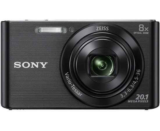 Sony DSC W830 Cyber-Shot 20.1 MP Point and Shoot Camera (Black) with 8X Optical Zoom - multi colours