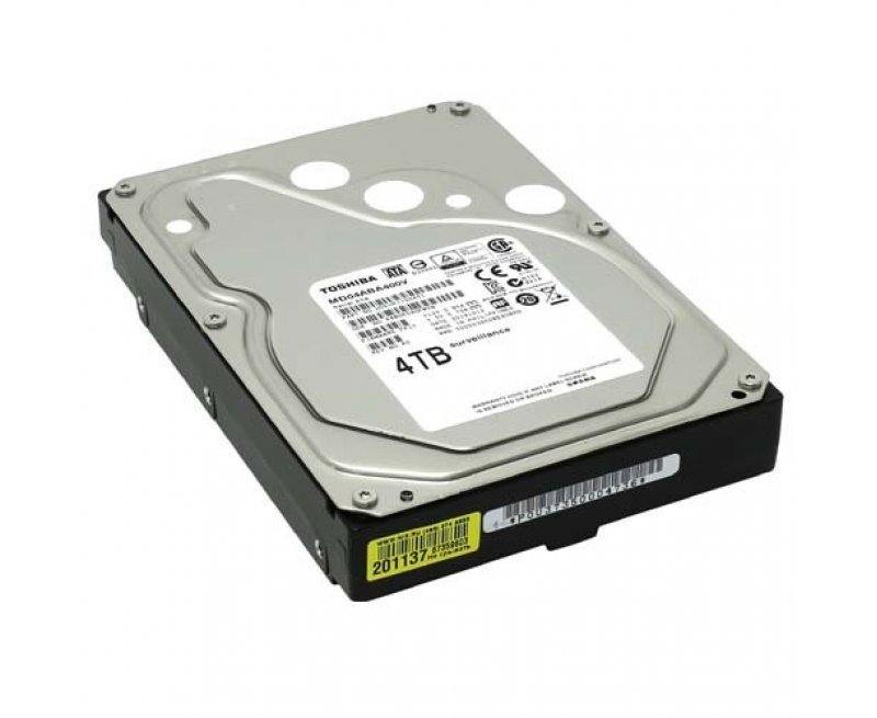 Toshiba 4TB 3.5 inch SATA 6Gbit/s Surveillance Hard Disk Drive HDD for NVR DVR for High Resolution Camera Feeds