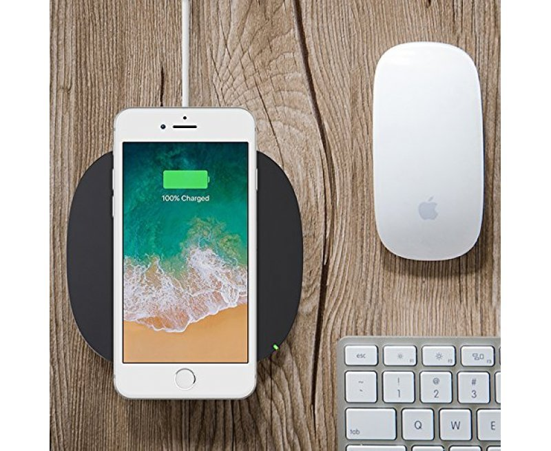 Belkin Boost Up Qi (5 W) Wireless Charger for iPhone X/iPhone 8 Plus/iPhone 8/Samsung Galaxy S9+/S9 and Other Qi Enabled Devices, Black