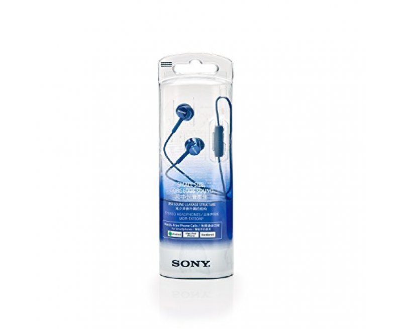 Sony MDR-EX150AP In-Ear Headphones with Mic - Dark Blue