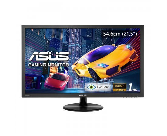 ASUS VP228H 21.5-inch (54 cm) LCD Gaming Monitor with HDMI & DVI Connectivity - 90LM01K0-B01170 (Black)