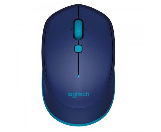 Logitech M337 Wireless Mouse, Bluetooth, 1000 DPI Laser Grade Optical Sensor, 10-Month Battery Life, PC/Mac/Laptop - Blue
