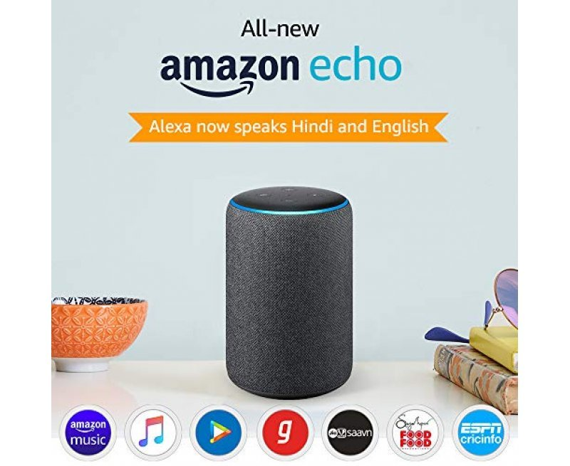 All-new Amazon Echo (3rd Gen) – Improved sound, powered by Dolby (White)