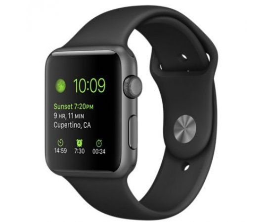 Apple Series 1(one) 42mm Space Gray Aluminium Case with Black Sport Band - MJ3T2HN/A
