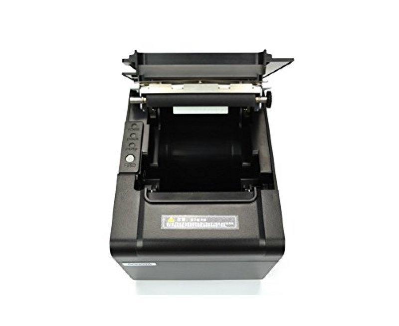 Rugtek RP327USE Thermal Printer - USB Serial Ethernet Port POS Thermal Receipt Printer Compatible 80mm Thermal Paper Rolls - 250mm/sec High-speed Printing with ESC / POS Print Commands.(Black)