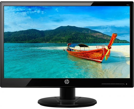 HP 18.5 inch (46.9cm) LED Backlit Computer Monitor - HD, TN Panel with VGA Port - HP 19ka Display - (Black)