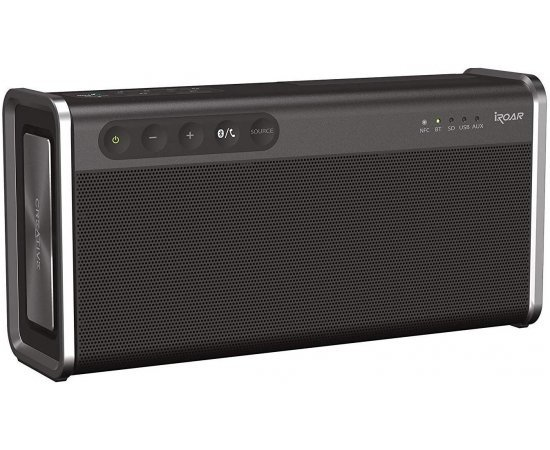 Creative iRoar Go Intelligent Splash-Proof Portable Bluetooth Speaker with SuperWide Technology(Black)