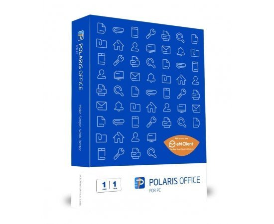 Polaris Office with Free Version of EM Client - 1 User, 1 Year