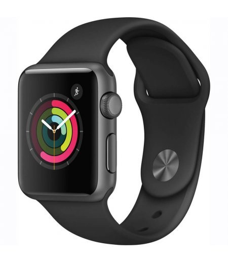Apple Watch Series 1 38mm Smart Watch (Space Gray Aluminum Case, Black Sport Band)