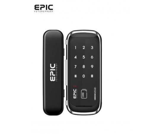 Epic Chromium Steel Es-303 G Glass Digital Door Lock (Black)