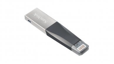 SanDisk iXpand Mini 128GB USB 3.0 Flash Drive for iPhone and Computer