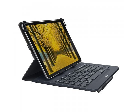 Logitech UNIVERSAL FOLIO Case with integrated Bluetooth keyboard for select 9-10 inch Tablets
