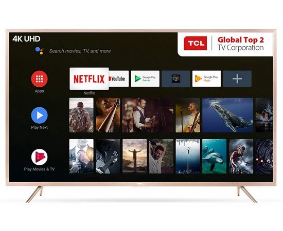 TCL 163.8 cm (65 Inches) 4K UHD Certified Android Smart LED TV 65P2MUS (Gold)