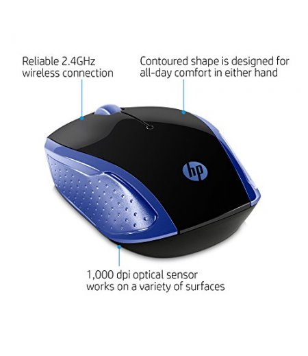 HP 200 Wireless Mouse (Black)