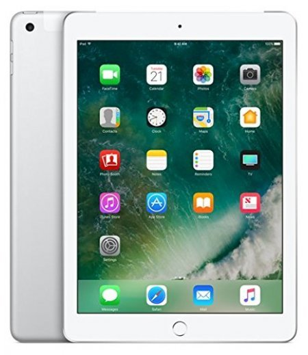 Apple iPad Tablet (9.7 inch, 128GB, Wi-Fi + 4G LTE + Voice Calling), Silver