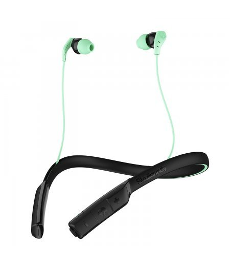 Skullcandy Method Bluetooth Wireless Sport Earbuds with Mic Swirl Black Mint
