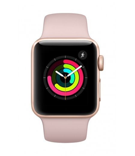 Apple Watch Series 3 GPS 38mm Smart Watch (Gold Aluminum Case, Pink Sand Sport Band)