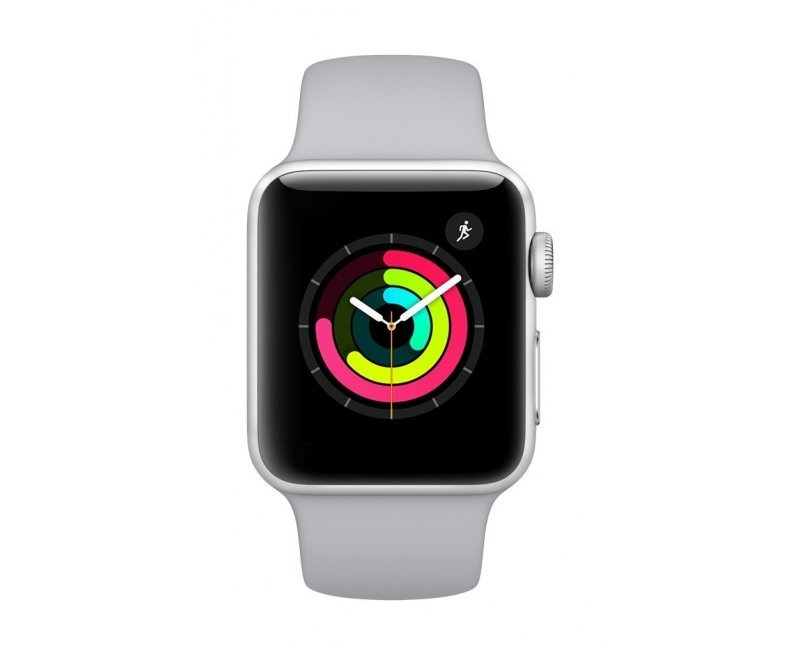 Apple Watch Series 3 GPS 38mm Smart Watch (Silver Aluminum Case, Fog Sport Band)
