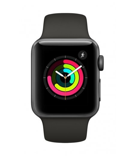 Apple Watch Series 3 GPS 38mm Smart Watch (Space Grey Aluminum Case, Grey Sport Band)