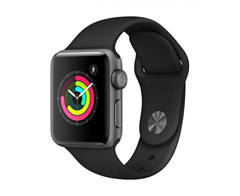 Apple Watch Series 3 GPS 38mm Smart Watch (Space Grey Aluminum Case, Black Sport Band)