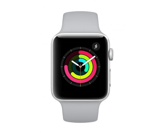 Apple Watch Series 3 GPS 42mm Smart Watch (Silver Aluminum Case, Fog Sport Band)