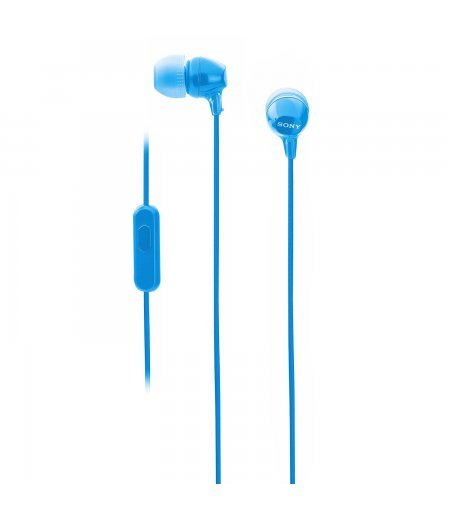 Sony MDR-EX14AP in-Ear Headset with Mic - Blue
