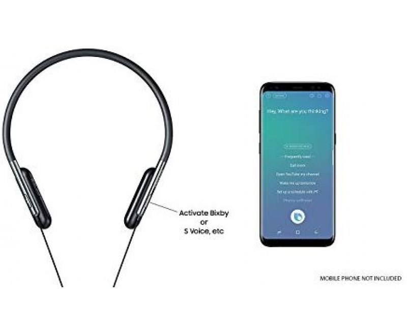 Samsung EO-BG950CBEGIN U Flex Bluetooth Wireless in-Ear Flexible Headphones with Microphone (Black)