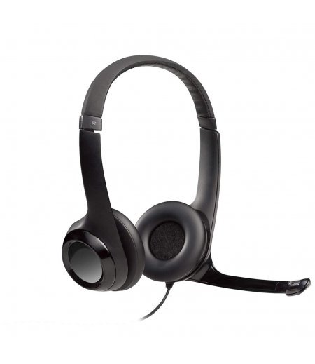 Logitech H390 USB Computer Headset with Enchanced Digital Audio and Inline Controls (Black)