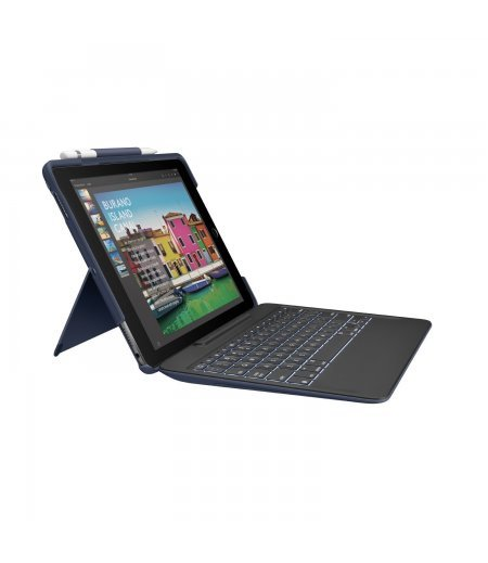 """Logitech 10.5"""" Slim Combo with Detachable, Backlit, Wireless Keyboard and Smart Connector for IPAD Pro (Black)"""